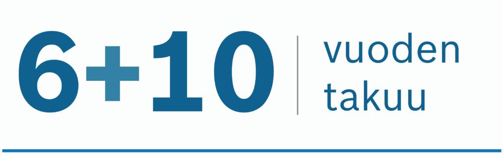 10 vuoden takuu